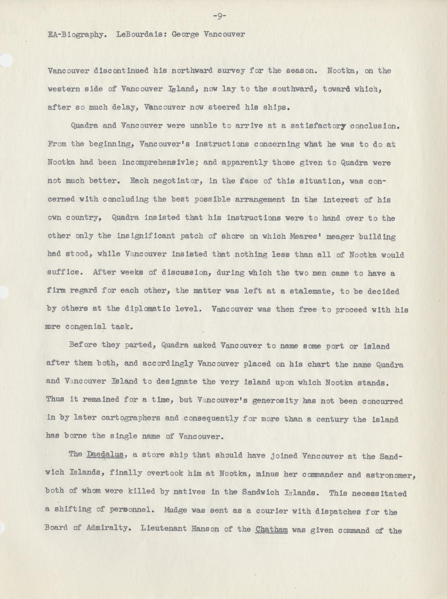 George Vancouver Encyclopedia Arctica 15 Biographies